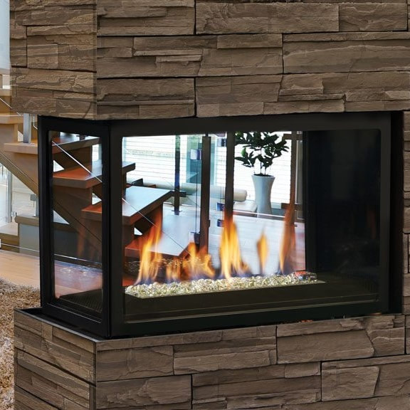 Marquis Collection Atrium Peninsula Direct Vent Gas Fireplaces