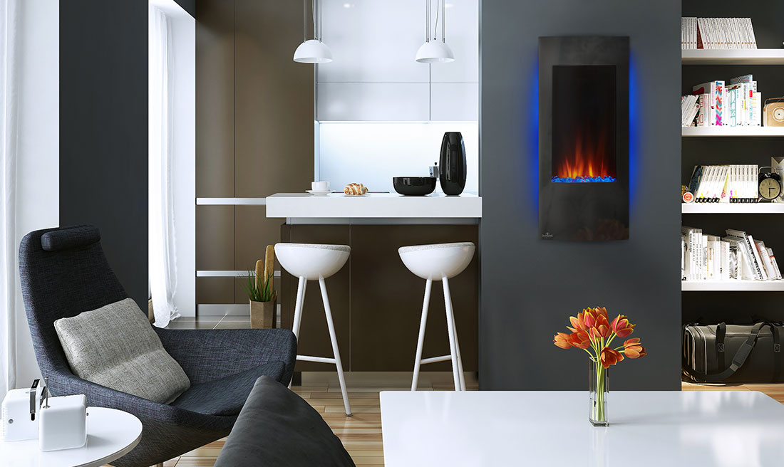 Napoleon Azure Vertical Electric Fireplace