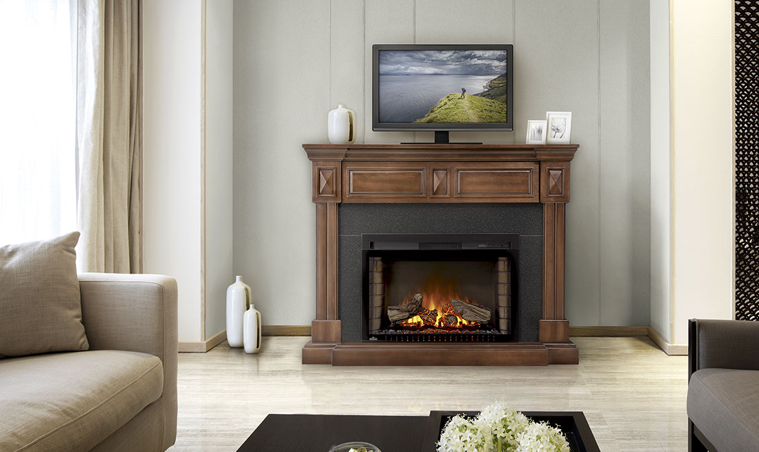 Napoleon Braxton - Electric Fireplace and Mantel Package