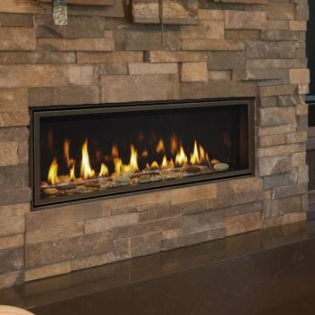 Majestic Echelon II Direct Vent Linear Gas Fireplace