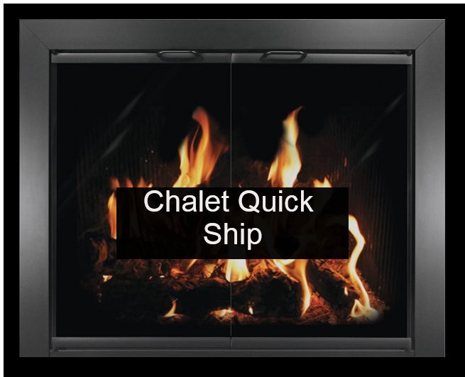 Thermorite Chalet Glass Fireplace Door