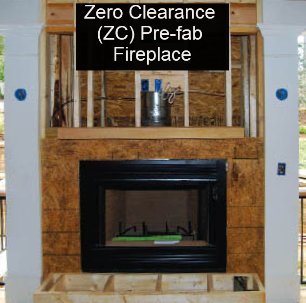 Zero Clearance wood fireplace