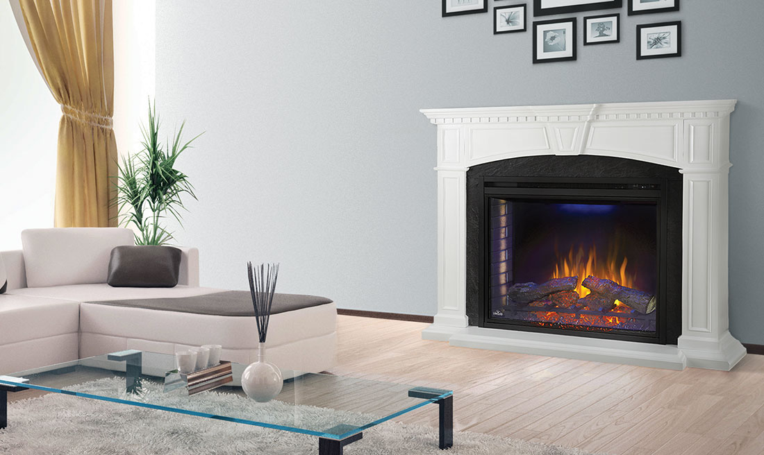 Napoleon Taylor - Electric Fireplace and Mantel Package